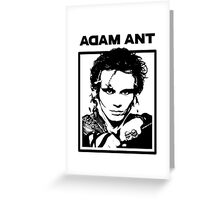 Adam Ant Greeting Card
