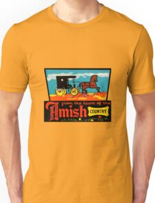 Amish Country Vintage Travel Decal Unisex T-Shirt