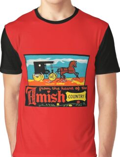 Amish Country Vintage Travel Decal Graphic T-Shirt