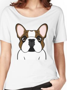 Frenchie - Fawn Pied Women's Relaxed Fit T-Shirt