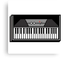 Retro Wurlitzer Keyboard Pixel Art Canvas Print
