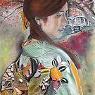A Japanese Portrait in Kimono by David M Scott