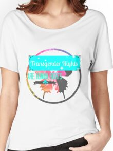 Transgender Rights Are Human Rights - Blue Women's Relaxed Fit T-Shirt