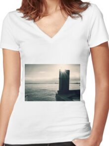 On The Wings Of A Dove Women's Fitted V-Neck T-Shirt
