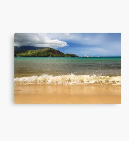 The Surf At Hanalei Bay Canvas Print