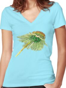Three Coneheads Women's Fitted V-Neck T-Shirt