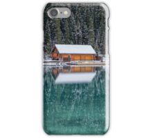 Lake Louise Christmas Card iPhone Case/Skin