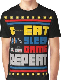 Eat. Sleep. Game. Repeat. Graphic T-Shirt