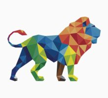 Lovely Colourful Animated Vector Lion For Animals lovers One Piece - Short Sleeve
