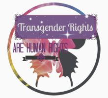 Transgender Rights Are Human Rights - Purple by Sarah Ball (TheMaggotPie)