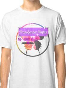 Transgender Rights Are Human Rights - Purple Classic T-Shirt