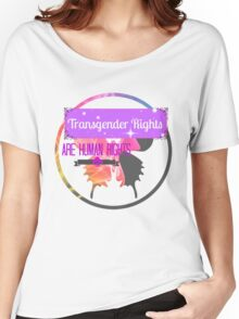 Transgender Rights Are Human Rights - Purple Women's Relaxed Fit T-Shirt