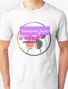 Transgender Rights Are Human Rights - Purple T-Shirt