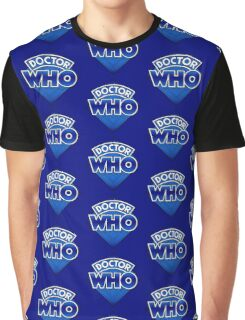 Doctor Who - Diamond Logo Blue gradient. Graphic T-Shirt