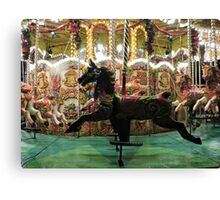 Carousel Black Beauty Canvas Print