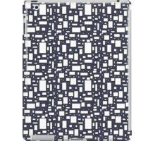 Blue gray white geometric pattern   iPad Case/Skin