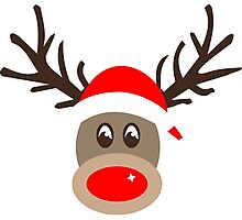 Rudolph the Red Noses Reindeer Photographic Print