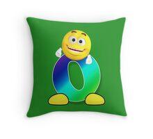 Letter O Alphabet Smiley Monogram Face Emoji Shirt for Men Women Kids Throw Pillow