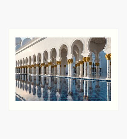 Sheikh Zayed White Mosque in Abu Dhabi Art Print