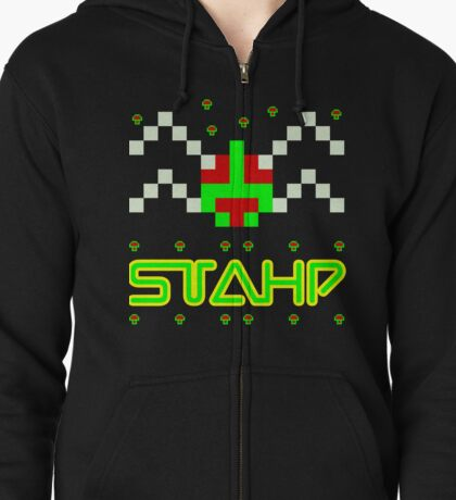 STAHP, 80s, what are you doing, meme, dank meme, funny meme, video games, arcade, centipede Zipped Hoodie