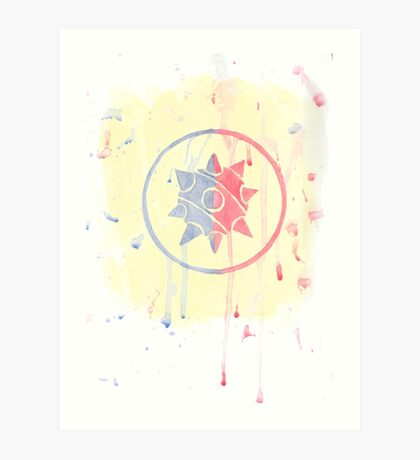 Watercolor Demoman Logo Art Print