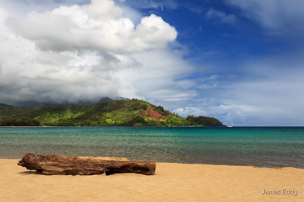 A Lazy Day In Hanalei by James Eddy