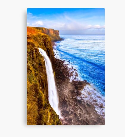 Kilt Rock And Mealt Falls On The Beautiful Isle of Skye Canvas Print