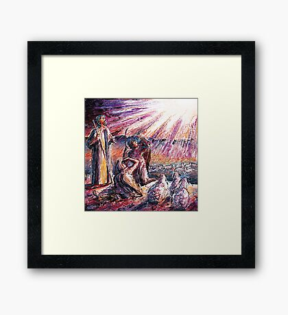 Glory Shone Around Framed Print