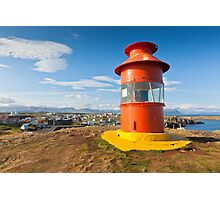 Red Lighthouse, Iceland Photographic Print