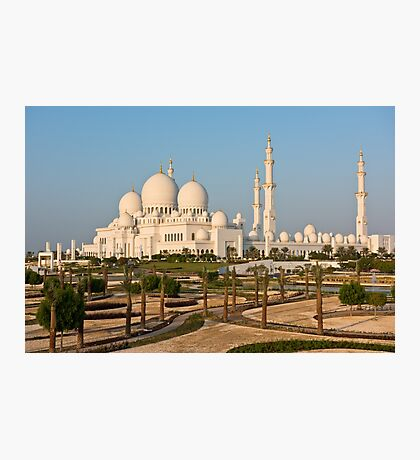Sheikh Zayed White Mosque in Abu Dhabi, UAE Photographic Print
