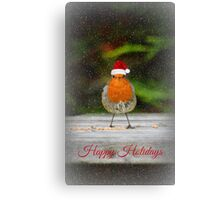 Holiday Robin Canvas Print