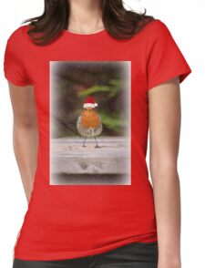 Holiday Robin Womens Fitted T-Shirt