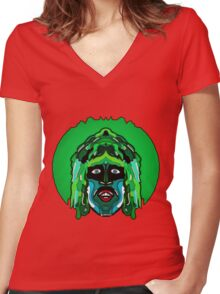 Old Gregg - Mighty Boosh Women's Fitted V-Neck T-Shirt