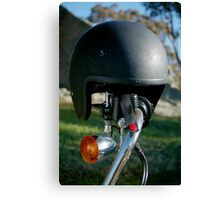 helmet at morgans Canvas Print