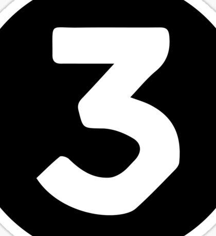 "Chance the Rapper ""3"" Sticker"
