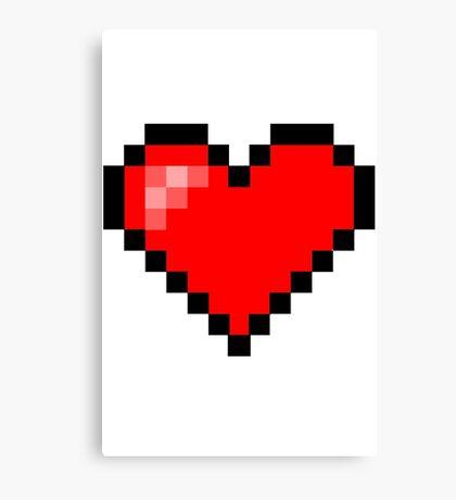 Pixel Heart Canvas Print