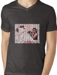 Snake and Joe Mens V-Neck T-Shirt