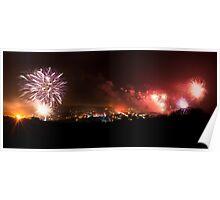 Lewes Bonfire Panorama Poster