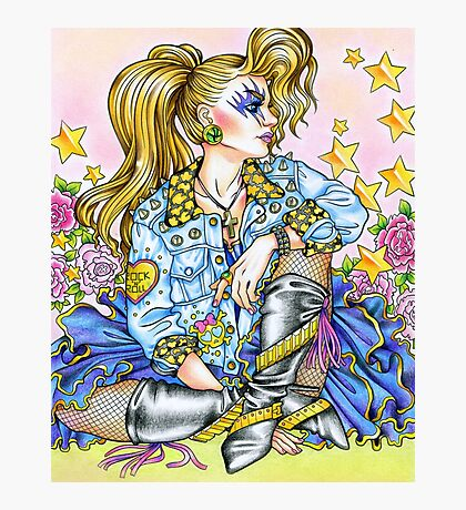 80s Girl- 1980s, 80s, 80s fashion, retro Photographic Print