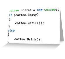 Coffee code Greeting Card