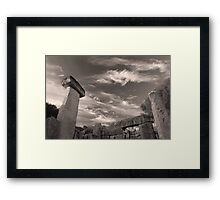 Ancient history Framed Print