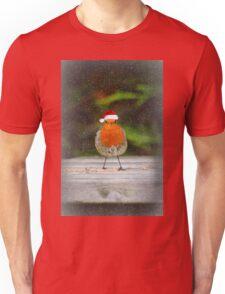 Festive Robin Unisex T-Shirt