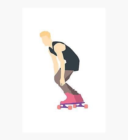 Justin Skating Photographic Print