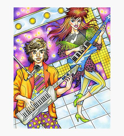 80s Keytar Band! 80s love, 80s, 1980s Photographic Print