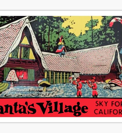 Santa's Village California Vintage Travel Decal Sticker