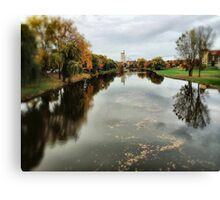 River of Fall Canvas Print