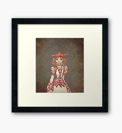 Chequered Maiden Framed Print