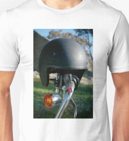 helmet at morgans Unisex T-Shirt