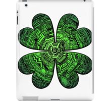 Zen Doodle Clover Shamrock Bright Green St. Patty's Day Art iPad Case/Skin