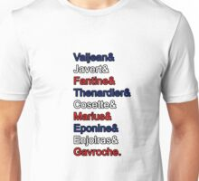 Les Miserables - What's in a Name Unisex T-Shirt